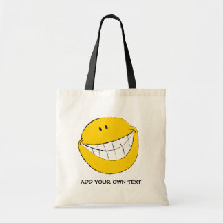 Silly Smiley Face Grin Tote Bag