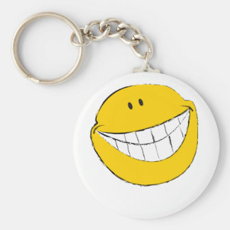 Silly Smiley Face Grin Keychain