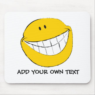 Silly Smiley Face Grin Mouse Pad