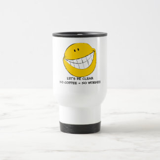 Silly Smiley Face Grin 15 Oz Stainless Steel Travel Mug