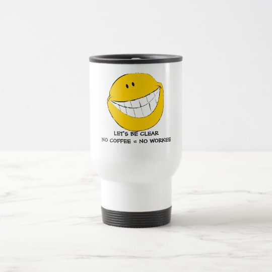 Silly Smiley Face Grin Travel Mug