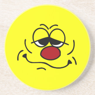 Silly Smiley Face Grumpey Beverage Coasters