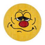 Silly Smiley Face Grumpey Cutting Board