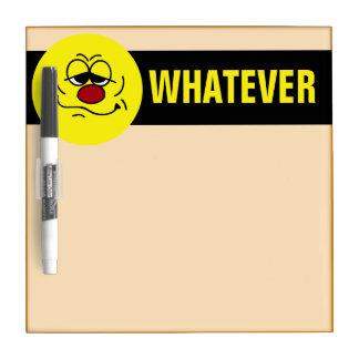 Silly Smiley Face Grumpey Dry-Erase Board