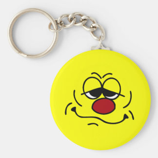 Silly Smiley Face Grumpey Keychain