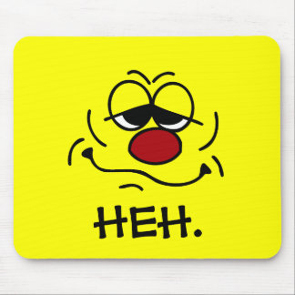 Silly Smiley Face Grumpey Mouse Pad