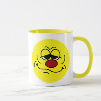 Silly Smiley Face Grumpey Mug