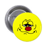Silly Smiley Face Grumpey Pin