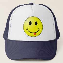 Silly Smiley Face Hat with tongue sticking out!