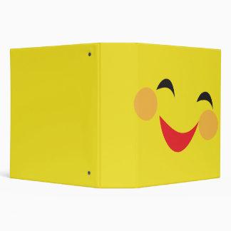 silly smiley face notebook vinyl binder