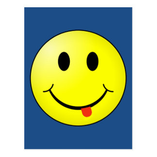 Silly Smiley Face Postcard