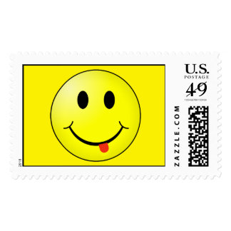 Silly Smiley Face Stamp with tongue sticking out!