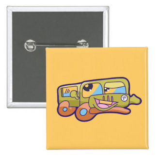 Silly Smiling Car Tshirts and Gifts Pin
