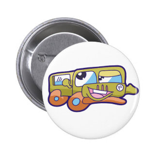 Silly Smiling Car Tshirts and Gifts Button