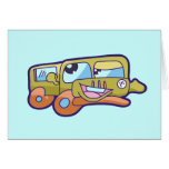 Silly Smiling Car Tshirts and Gifts Greeting Cards