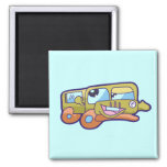 Silly Smiling Car Tshirts and Gifts Refrigerator Magnets