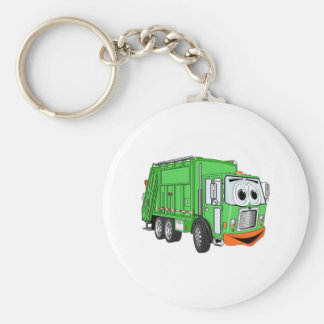 Silly Smiling Garbage Truck Cartoon Keychain