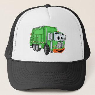 Silly Smiling Garbage Truck Cartoon Trucker Hat