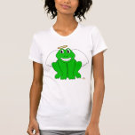 Silly Smiling Green Frog Angel Shirts