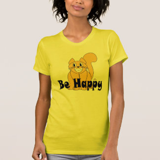 Silly Smiling Orange Cat Be Happy T-Shirt