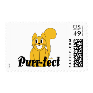 Silly Smiling Orange Cat Purr-fect Postage Stamp
