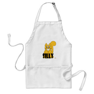 Silly Smiling Orange Cat Silly Adult Apron