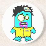 silly smyk zombie cartoon character drink coaster
