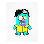 silly smyk zombie cartoon character flyer design