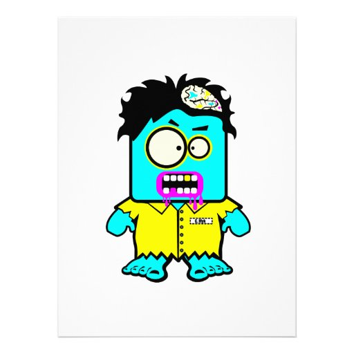 silly smyk zombie cartoon character announcements