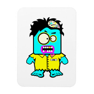 silly smyk zombie cartoon character magnet
