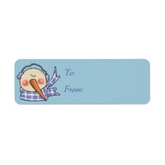 Silly Snowman Gift Tags Return Address Label