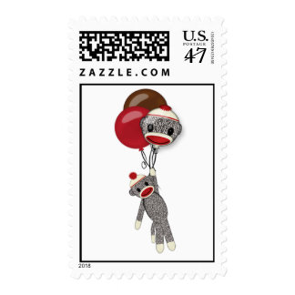 Silly SOCK MONKEY Birthday SMR Postage #2