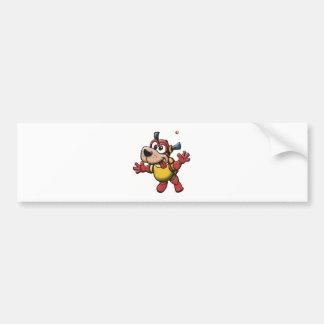 Silly SpaceDog Car Bumper Sticker
