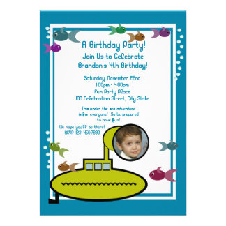 Silly Sub Personalized Invitation