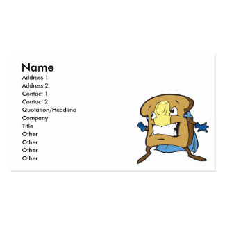 silly superhero caped super toast business card