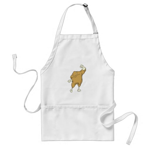 silly superhero super chicken food character apron