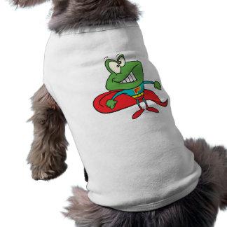 silly superhero super hero frog tee