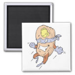 silly superhero super pancakes character 2 inch square magnet