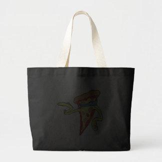 silly superhero villian pepperoni pizza character bag