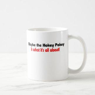 Silly t-shirt hokey pokey mug