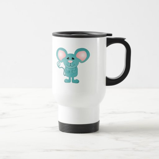 silly teal blue mousey mouse coffee mugs