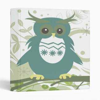 silly teal vector owl scene 2.ai 3 ring binder