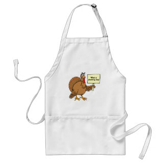 Silly Thanksgiving Jokes What A Plucking Day Adult Apron