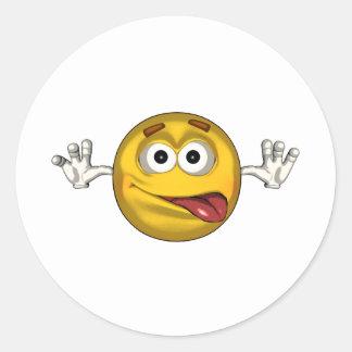 Silly - toon classic round sticker