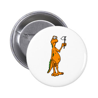 Silly Toothless Dragon with White Flag Cute 2 Inch Round Button