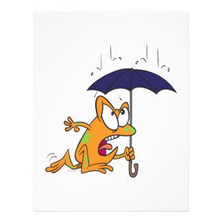 "silly tree frog with umbrella cartoon 8.5"" x 11"" flyer"