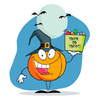 silly trick or treat halloween pumpkin character acrylic cut outs
