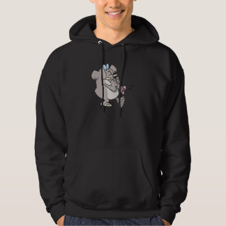 silly trumpet horn elephant tooting trunk hoodie