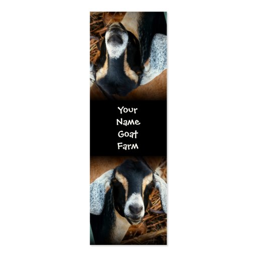Silly upside Down Pet Goat Bookmark Double-Sided Mini Business Cards (Pack Of 20)