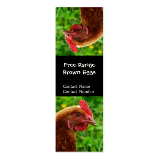 Silly upside Down Red Hen Bookmark Business Card Templates
